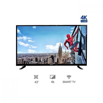 WEGA 43 Inch 4K Smart Android TV with Double Glass